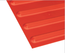 Poly - Hazard Directional Red