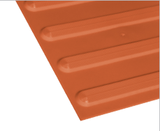 Poly - Hazard Directional Terracotta
