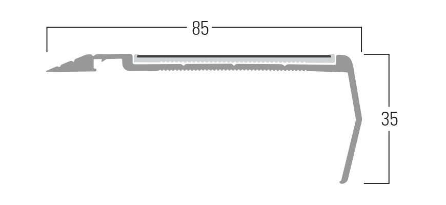 400 Series - Smn 410 end profile