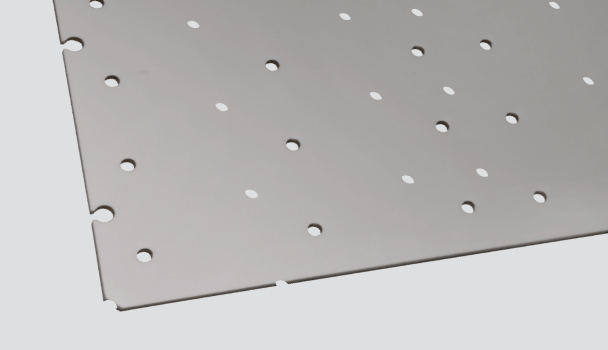 Rigid panel / 1200 x 600mm / Directional Bar Template -TEMP PB